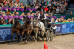 DE RONDE Koos (NED), Favory Allegra Futar, Favory Felho, Neapolitano Xxxii-44, Oosterwijk's Kasper, Tjibbe<br /> Leipzig - Partner Pferd 2020<br /> TRAVEL CHARME Hotels & Resorts Trophy <br /> FEI Driving World Cup™<br /> FEI World Cup Qualifikation der Vierspänner<br /> Zeithindernisfahren für Vierspänner, international<br /> 19. Januar 2020<br /> © www.sportfotos-lafrentz.de/Stefan Lafrentz