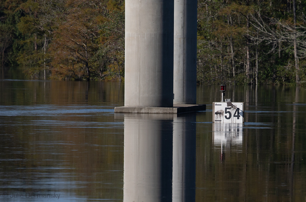 Intracostal Waterway, in Socastee with floodwaters from Florence, South Carolina.