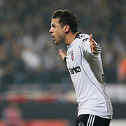 Besiktas's Deivson Rogerio Da SILVA (BOBO) celebrate his goal during their Turkey Cup quarter final soccer match Besiktas between Gaziantepspor BSB at the Inonu stadium in Istanbul Turkey on Wednesday 02 February 2011. Photo by TURKPIX