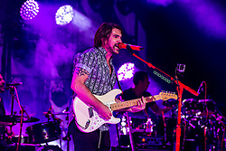 """COSTA MESA, CA - AUG 5: Singer/songwriter Colombian superstar Juanes performs on stage during a stop of his Loco De Amor Tour at the Pacific Amphithater during the OC Fair. Juanes performed an impressive show that included some of is new material """"loco de amor"""" and classics such as """"camisa negra"""" and """"A Dios le pido"""" on 5 August, 2015 in Costa Mesa, California. Byline, credit, TV usage, web usage or linkback must read SILVEXPHOTO.COM. Failure to byline correctly will incur double the agreed fee. Tel: +1 714 504 6870."""