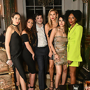 Chloe Adlerstein, Lois Bowden, Ben Luke Jones, Lilly Douse, Claudia Sowaha and Tonique Campbell is a contestant attend The Bachelor UK 2019 launch night - The girls private screening on Channel 5 at Beach Blanket Babylon on 4 March 2019, London, UK