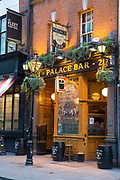 Exterior of Palace Bar, a traditional Irish Bar, on 04th April 2017 in Dublin, Republic of Ireland. Dublin is the largest city and capital of the Republic of Ireland.