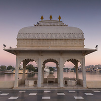 A beautiful view of Lake Pichola, as another day begins at the Taj Lake Palace Hotel in Udaipur.