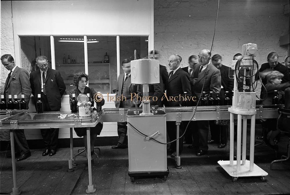 26/09/1962<br /> 09/26/1962<br /> 26 September 1962<br /> Opening of Earl Bottlers Ltd. at South Earl Street, Dublin. Minister for Justice Charles Haughey opened the new premises that produced Sandyman port. Guests on a tour of the factory.