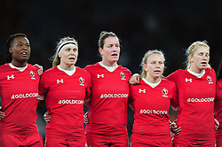 Canada players sing the national anthem - Mandatory byline: Patrick Khachfe/JMP - 07966 386802 - 26/11/2016 - RUGBY UNION - Twickenham Stadium - London, England - England Women v Canada Women - Old Mutual Wealth Series.