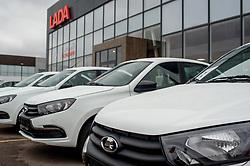 November 10, 2018 - Tambov, Tambov region, Russia - Lada Granta cars near Lada motor show in Tambov  (Credit Image: © Demian Stringer/ZUMA Wire)