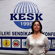 Special For LO-Tidningen.<br /> Women's general secretary Canan CAGLAYAN of the KESK , in Ankara Turkey on Monday, 13 June 2011. Photo by TURKPIX