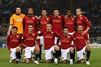 Fotball<br /> UEFA Champions League<br /> 23.10.2007<br /> Foto: Inside/Digitalsport<br /> NORWAY ONLY<br /> <br /> Roma - Sporting Club de Portugal Lisboa 2-1<br /> <br /> Lagbilde Roma<br /> Up Alexander Doni, Amantino Mancini, Cristian Panucci, Marco Cassetti, Juan, Philippe Mexes<br /> Bottom: David Pizarro, Francesco Totti, Daniele De Rossi, Ludovic Giuly, Max Tonetto