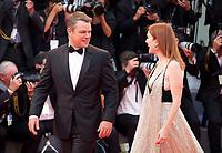 Matt Damon and Julianne Moore at the premiere of the film Suburbicon at the 74th Venice Film Festival, Sala Grande on Saturday 2 September 2017, Venice Lido, Italy.