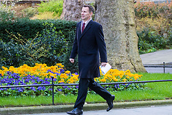 Downing Street, London, March 21st 2017. Health Secretary Jeremy Hunt attends the weekly cabinet meeting at 10 Downing Street.