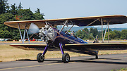 Civilianized Stearman at the Northwest Antique Airplane Club flyin, Scapoose, OR