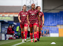 BIRKENHEAD, ENGLAND - Sunday, August 29, 2021: Liverpool's Taylor Hinds (C) during the pre-match warm-up before the FA Women's Championship game between Liverpool FC Women and London City Lionesses FC at Prenton Park. London City won 1-0. (Pic by Paul Currie/Propaganda)