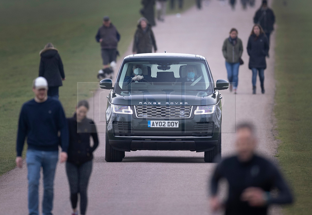 © Licensed to London News Pictures. 17/03/2021. Windsor, UK. Prince Andrew, Duke of York is seen driving to Windsor Castle to go horse riding,  the day after his father Prince Philip came out of hospital. The Duke of Edinburgh has returned to Windsor after being in St Barts and Edward VII hospitals. Photo credit: Peter Macdiarmid/LNP