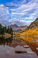 Maroon Lake in the White River National Forest near Aspen, Colorado, USA
