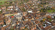 Aerial view of petworth town with a variety of architectural buildings.