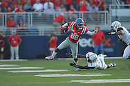 Mississippi Rebels wide receiver Cody Core (88) is chased by Vanderbilt Commodores cornerback Torren McGaster (5) at Vaught-Hemingway Stadium at Ole Miss in Oxford, Miss. on Saturday, September 26, 2015.
