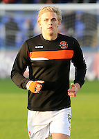 Blackpool's Brad Potts during the pre-match warm-up <br /> <br /> Photographer David Shipman/CameraSport<br /> <br /> The EFL Sky Bet League Two - Hartlepool United v Blackpool - Monday 26th December 2016 - Northern Gas and Power Stadium - Hartlepool<br /> <br /> World Copyright © 2016 CameraSport. All rights reserved. 43 Linden Ave. Countesthorpe. Leicester. England. LE8 5PG - Tel: +44 (0) 116 277 4147 - admin@camerasport.com - www.camerasport.com