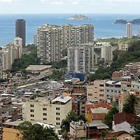 South America, Brazil. Rio de Janiero. Favela of Rocinho.
