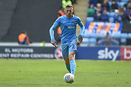 Coventry City midfielder Jordan Shipley (26) sprints forward with the ball during the EFL Sky Bet League 1 match between Coventry City and Shrewsbury Town at the Ricoh Arena, Coventry, England on 28 April 2019.