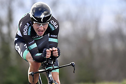 March 7, 2018 - Saint Etienne, France - SAINT-ETIENNE, FRANCE - MARCH 7 : POLJANSKI Pawel  (POL)  of Bora - Hansgrohe in action during stage 4 of the 2018 Paris - Nice cycling race, an individual time trial over 18,4 km from La Fouillouse to Saint-Etienne on March 07, 2018 in Saint-Etienne, France, 7/03/2018 (Credit Image: © Panoramic via ZUMA Press)