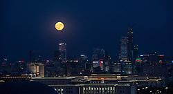 BEIJING, Nov. 14, 2016 (Xinhua) -- The ''supermoon'' is seen over Beijing, capital of China, Nov. 14, 2016. The supermoon is the closest full moon to the earth in 69 years, according to NASA. (Xinhua/Liu Jinhai) (mp) (Credit Image: © Liu Jinhai/Xinhua via ZUMA Wire)