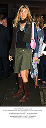 TANIA STRECKER former friend of singer Robbie Williams,  at an exhibition in London on 21st April 2004.PTH 124