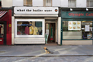 Dog outside shop, Lower Marsh, London SE1