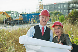 Architect and client on site