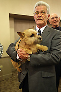 Foxglyn the Norwich Terrier at The133rd Westminister Kennel Club Dog Show Press Conference announcing The Dogue De Bordeaux debut at the Westminister Kennel Club Dog Show held at the Pennsylvania Hotel Sky Top Ball Room on February 5, 2009 in New York City