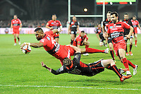 Essai Delon ARMITAGE - 14.03.2015 - Lyon OU / Toulon -  20eme journee de Top 14<br /> Photo : Jean Paul Thomas  / Icon Sport<br /> <br />   *** Local Caption ***