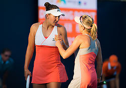 March 21, 2019 - Miami, FLORIDA, USA - Nicole Melichar of the United States & Kveta Peschke of the Czech Republic playing doubles at the 2019 Miami Open WTA Premier Mandatory tennis tournament (Credit Image: © AFP7 via ZUMA Wire)