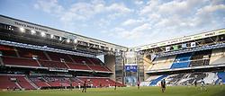Næsten ingen tilskuere til kampen i 3F Superligaen mellem FC København og AaB den 17. juni 2020 i Telia Parken, København (Foto: Claus Birch).