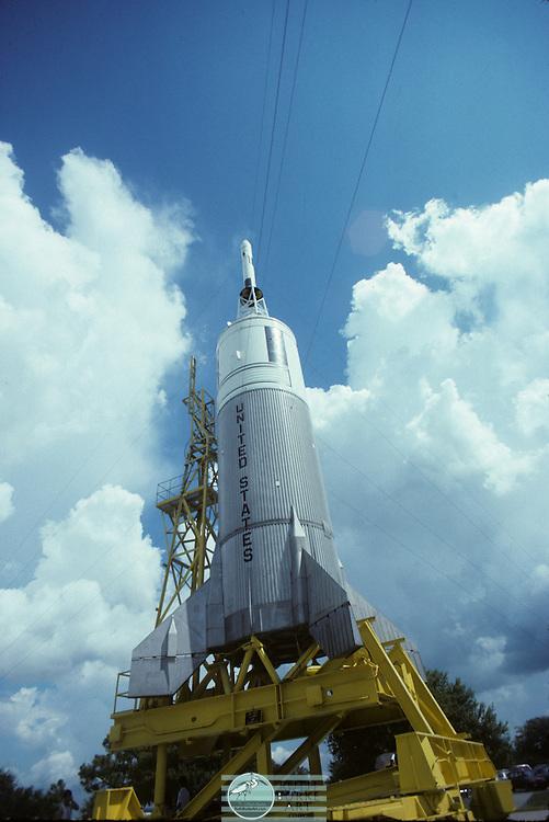 1989 Little Joe II Rocket on display at JSC NASA
