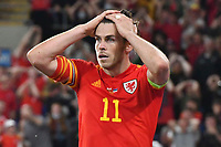 Football - 2022 FIFA World Cup - European Qualifying - Group E - Wales vs Estonia - Cardiff City Stadium - Wednesday 8th September 2021<br /> <br /> Gareth Bale Wales head in hands after failing to score at towards the end of the game <br /> <br /> COLORSPORT/WINSTON BYNORTH