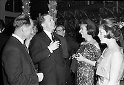 18/04/1962<br /> 04/18/1962<br /> 18 April 1962 <br /> Betty Whelan and Associates Reception at the Gresham Hotel, Dublin. At the event were (l-r): Mr R.S. Nesbitt, Director of Arnotts; Mr John Maguire; Mrs R.S. Nesbitt and Miss K. Nesbitt.