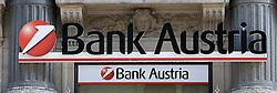 15.10.2010, Graz, AUT, Feature, im Bild der Schriftzug der Bank Austria Filiale als Tochter der Unicredit, EXPA Pictures © 2012, PhotoCredit: EXPA/ Erwin Scheriau