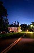 The Historic Mount Gilboa Church in Oella, Maryland at dawn.