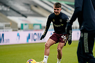 Leeds United midfielder Jamie Shackleton (46) warming up during the Premier League match between Newcastle United and Leeds United at St. James's Park, Newcastle, England on 26 January 2021.