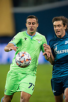 SAINT PETERSBURG, RUSSIA - NOVEMBER 04: Adam Marušić of SS Lazio during the UEFA Champions League Group F stage match between Zenit St. Petersburg and SS Lazio at Gazprom Arena on November 4, 2020 in Saint Petersburg, Russia. (Photo by MB Media)