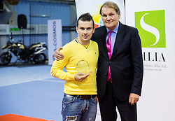 Ales Macek and Marko Umberger, president of TZS at Tennis exhibition day and Slovenian Tennis personality of the year 2013 annual awards presented by Slovene Tennis Association TZS, on December 21, 2013 in BTC City, TC Millenium, Ljubljana, Slovenia.  Photo by Vid Ponikvar / Sportida