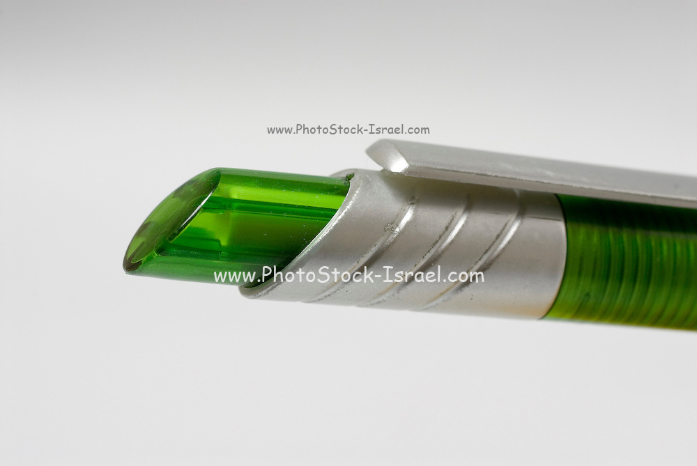 Green and silver pen