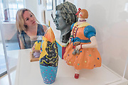 Sculptures depicting Grayson Perry and his alter ego Claire - Royal Academy celebrates its 250th Summer Exhibition, and to mark this momentous occasion, the exhibition is co-ordinated by Grayson Perry RA.