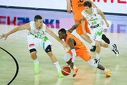 Charlon Kloof of Netherlands and Alen Omic of Slovenia during basketball match between Slovenia vs Netherlands at Day 4 in Group C of FIBA Europe Eurobasket 2015, on September 8, 2015, in Arena Zagreb, Croatia. Photo by Matic Klansek Velej / Sportida