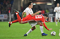 Football - 2018 / 2019 UEFA Nations League B - Group Four: Wales vs. Denmark<br /> <br /> Harry Wilson of Wales brought down by  Thomas Delaney of Denmark, at Cardiff City Stadium.<br /> <br /> COLORSPORT/WINSTON BYNORTH