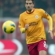 Galatasaray's Milan Baros during their Turkish Super League soccer match Galatasaray between IBBSpor at the TT Arena at Seyrantepe in Istanbul Turkey on Tuesday, 03 January 2012. Photo by TURKPIX