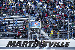March 27, 2018 - Martinsville, Virginia, United States of America - March 26, 2018 - Martinsville, Virginia, USA: Clint Bowyer (14) wins the STP 500 at Martinsville Speedway in Martinsville, Virginia. (Credit Image: © Chris Owens Asp Inc/ASP via ZUMA Wire)