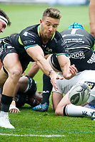 Rugby Union - 2016 / 2017 Guinness Pro12 - Ospreys vs. Ulster<br /> <br /> Rhys Webb (Capt) of Ospreys passes the ball out, at Liberty Stadium.<br /> <br /> COLORSPORT/WINSTON BYNORTH