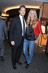 SEB & HEIDI BISHOP at the launch of famed American fitness club 'Equinox' 99 High Street Kensington, London on 23rd October 2012.