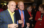 Brian Clarke and Lord Norman Foster. Fundraising dinner in aid of Tommy's Campaign, Bloomberg Space. © Copyright Photograph by Dafydd Jones 66 Stockwell Park Rd. London SW9 0DA Tel 020 7733 0108 www.dafjones.com