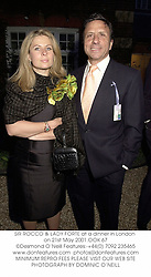 SIR ROCCO & LADY FORTE at a dinner in London on 21st May 2001.	OOK 67